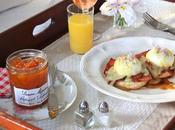 Southern Biscuits with Apricot Country Ham, Poached Eggs, Hollandaise
