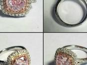 Pretty Pink Custom Cushion Halo Engagement Ring