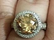 Fancy Dark Champagne Diamond Engagement Ring