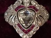 Edwardian Diamond Ruby Platinum Dinner Ring
