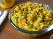 Vegetable Soya Chunks Rice Toddlers