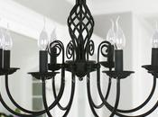Glamorous Wrought Iron Chandeliers, Snazzy Home