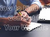 Find Free Content Your Website