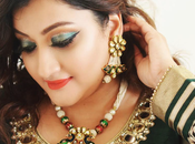 Plus Size Ethnic Fashion Outfit Makeup Look