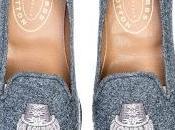 Floss Flannel: Stubbs Wootton Epaulet Grey Flannel Slipper