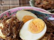 Sambal (Sambal Telur) Hardboiled Eggs Served with Malaysia Singapore Style Caramelised Onion