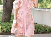 Luxe Less Pink Shoulder Ruffle Dress