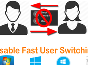 Disable Fast User Switching Windows