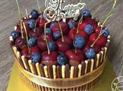 Cherry Pocky Cake