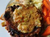 Leek Mustard Sauced Pork Chops