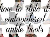 Style Embroidered Ankle Boots Fall