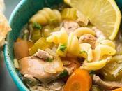 Slow Cooker Lemon Sesame Chicken Noodle Soup