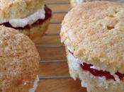 Mini Victoria Sponge Cakes with Strawberry