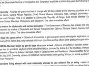 Rwanda Announces: Travelers #VisaOnArrival from January 2018