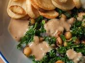 Smokey Kale Chickpeas with Miso Peanut Drizzle