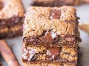 Chocolate Chunk Gingerbread Blondies (Gluten Free, Paleo Vegan)