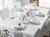Dreaming White Christmas Table Setting