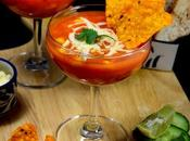 Mexican Tomato Soup with Nachos Recipe