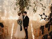 Moody Black Christmas Wedding Inspiration