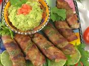 Bacon Jalapeno Palm Poppers with Hearts Guacamole #FootballFoods
