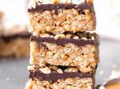 Bake Chocolate Peanut Butter Crispy Bars (Gluten Free, Refined Sugar Free Vegan)