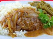 Easy Beef Patties Onion Gravy (Hamburger Steaks Gravy)
