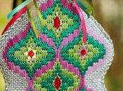 Bargello Ornaments from Needlepoint