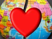 Hanging Hearts Around Globe
