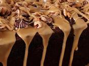 Date Coffee Cake with Walnuts Espresso Glaze