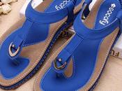Best Socofy Comfortable Elastic Clip Flat Beach Sandals 2018 Summer