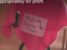 Catholic School Handing Modesty Ponchos Revealing Prom Dresses