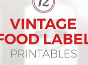 FREEBIE: Vintage Food Label Printables (ALL)