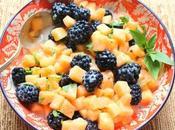 Blackberry Cantaloupe Salad #FarmersMarketWeek