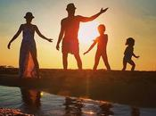 Quatro #sunset #love #family #sky #seaside #backlight #famille #quatro #amour #coucherdesoleil #ensemble #kids #enfants #children #music #musique #mer #vacances #holidays