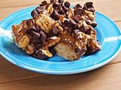 Chocolate Salted Caramel Pecan Oatmeal Bars