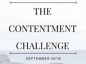 Contentment Challenge September Goals First Month