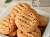 Easy 4-ingredients Gluten Free Peanut Butter Cookies Made with Less Sugar