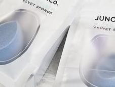 Blue Velvet Beauty: JUNO Microfiber Sponge