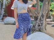 Fall Trend Ruffled Velvet Skirt