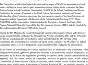 WAEC Approves Sanctions Exam Malpractices Cases