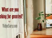 What Take Granted?