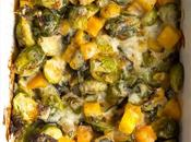 Brussels Sprouts Gratin with Butternut Squash