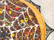 Spider Brownie Pizza #Choctoberfest