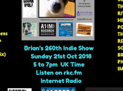 Brian's Indie Show Radio Replay from Sunday 21.10.18