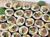 Healthy Lean Beef Bulgogi Gimbap Kimbap Korean Sushi Roll with Quinoa