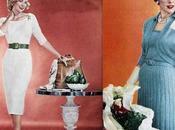 1950s Fashion Sweater Dress Winter 1954