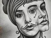 Here Pencil Portrait Music Band @cocorosie_official Made Sisters Sierra Bianca #drawing #portrait #doubleportrait #cocorosie #dessin #folk #singer #chanteur #music #musique #song #chanson #beautifulboyz #moustache #girls #women #g...
