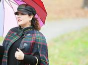 What Wore: Talbots Plaid Cape