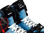 Blue Streak: Off-White Off-Court Suede/Leather High-Top Sneakers