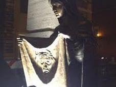 Vatican Displays Cross Bronze